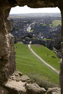 View from Corfe Castle