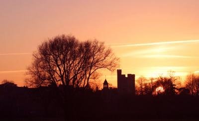 Wimborne Minster at Sunset