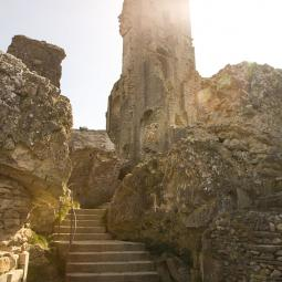 Corfe Castle Keep Ruins