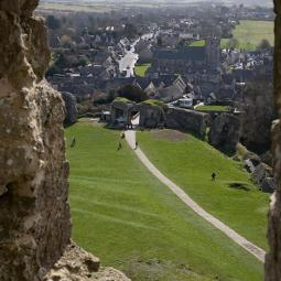 Corfe Castle Village View