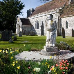 Langton Matravers Church and Statue
