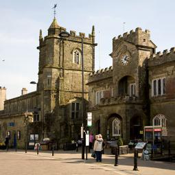 Shaftesbury Town Hall and Church