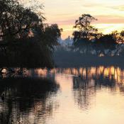 Poole Park sunset