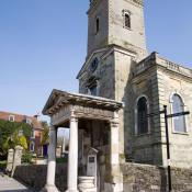 Blandford Fire Monument and Church