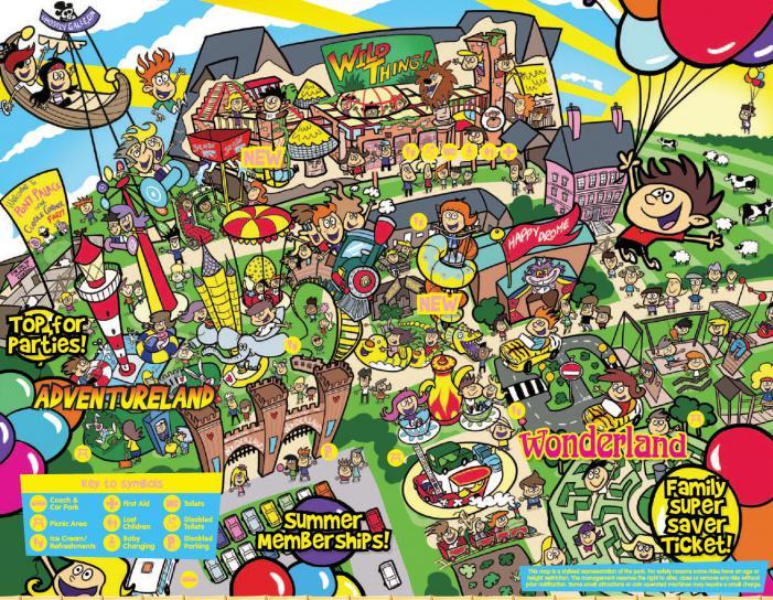 Adventure Wonderland site map