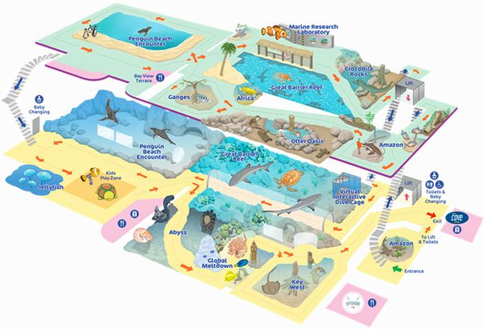 Bournemouth Oceanarium map