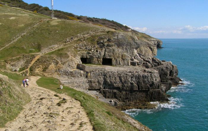 Durlston Park - View to Tilly Whim caves
