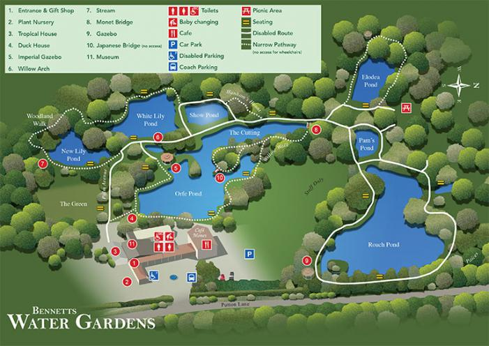Bennetts Water Gardens Map