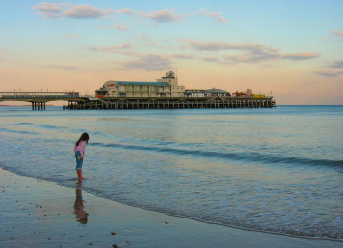 Bournemouth beach and pier - Summer evening