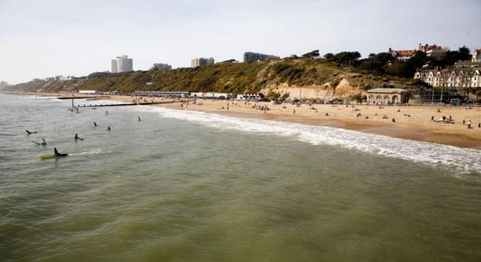 Not much surf at Boscombe