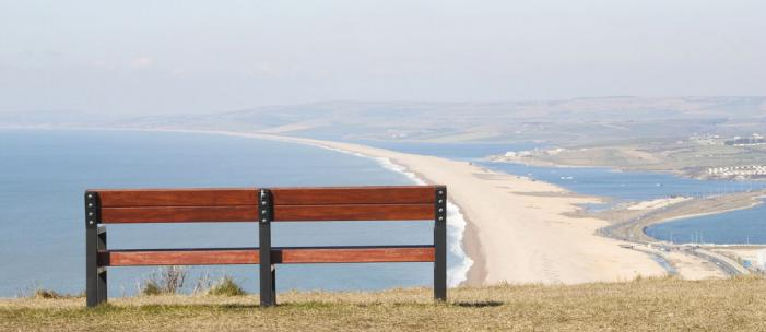 Chesil beach view