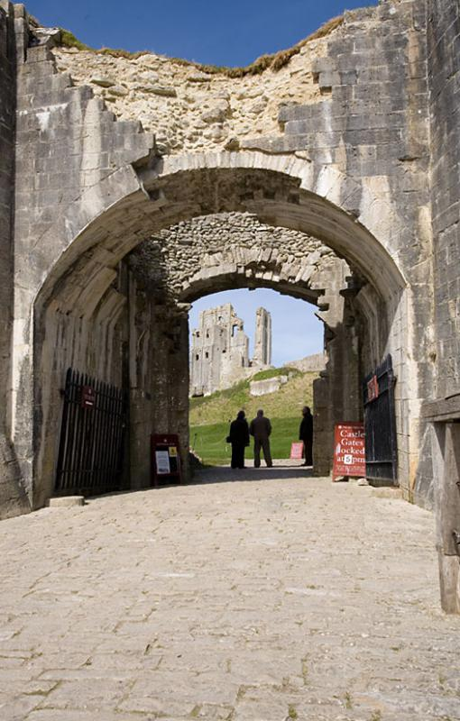 Corfe Castle Entrance