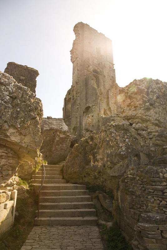 Corfe Castle Keep Ruins