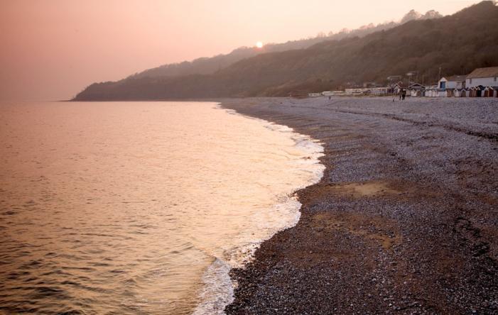 Lyme Regis Beach Sunset