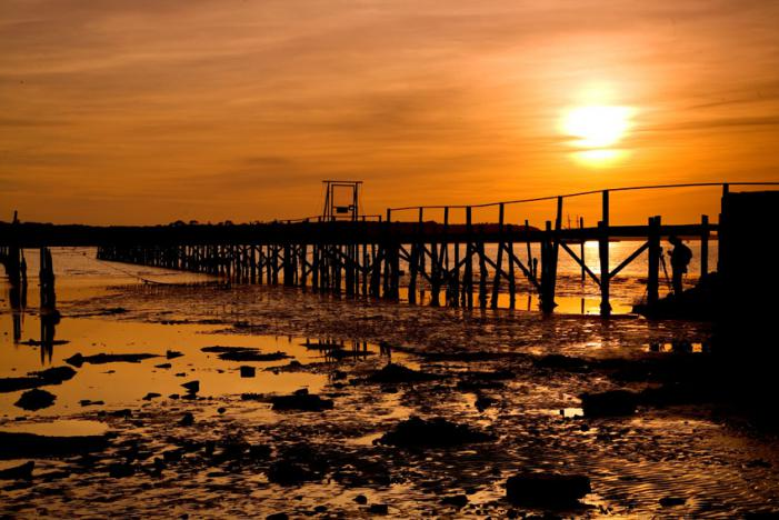 Sunset over Poole Harbour Jetty