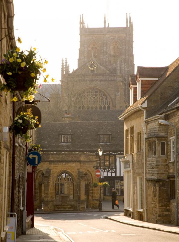Sherborne Abbey and the Conduit