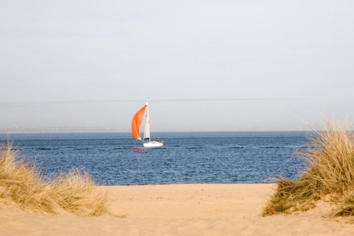 Sailing off Studland