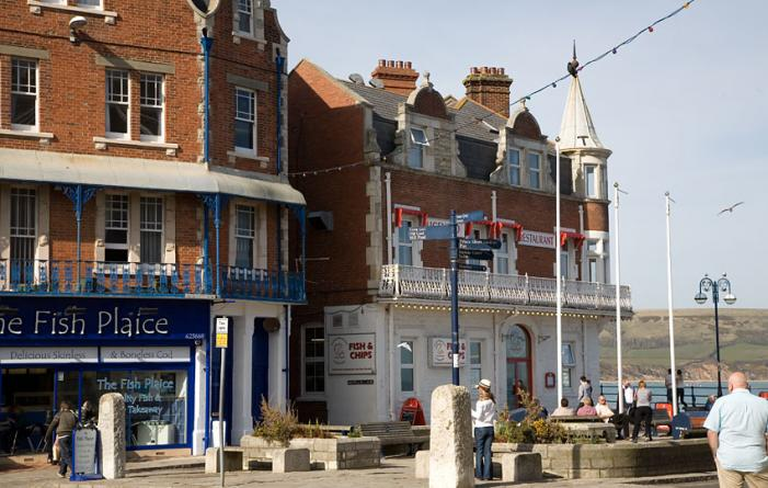 Swanage Square on the Seafront